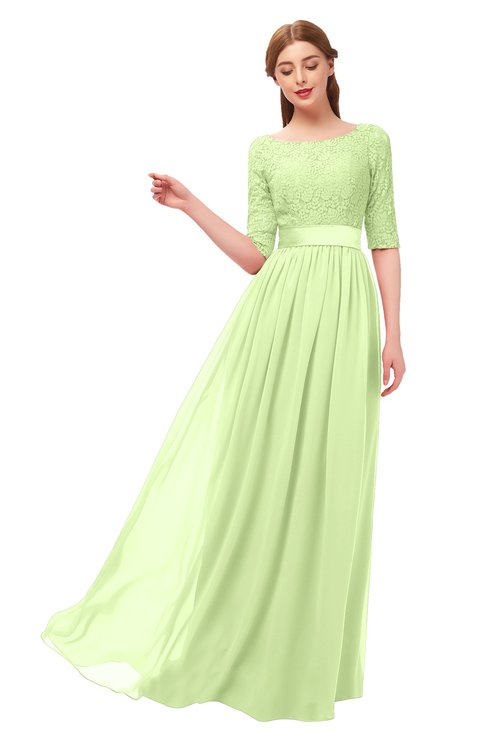 ColsBM Payton Butterfly Bridesmaid Dresses Sash A-line Modest Bateau Half Length Sleeve Zip up