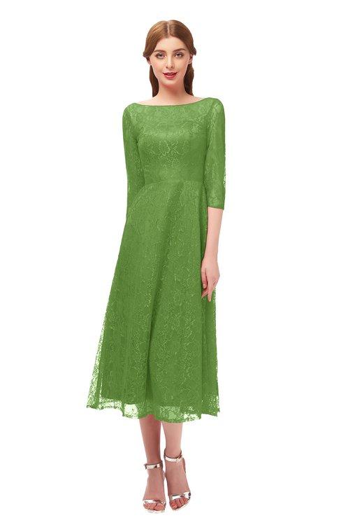 ColsBM Lauryn Clover Bridesmaid Dresses A-line Lace Cute Tea Length Sabrina Three-fourths Length Sleeve