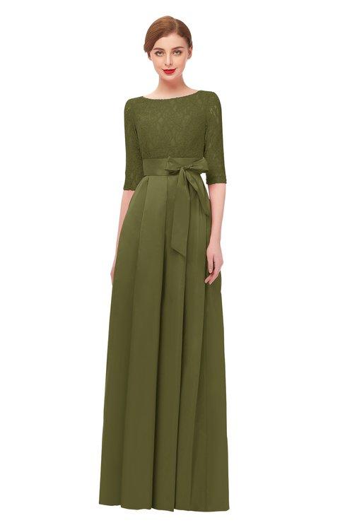 ColsBM Aisha Avocado Bridesmaid Dresses Sash A-line Floor Length Mature Sabrina Zipper