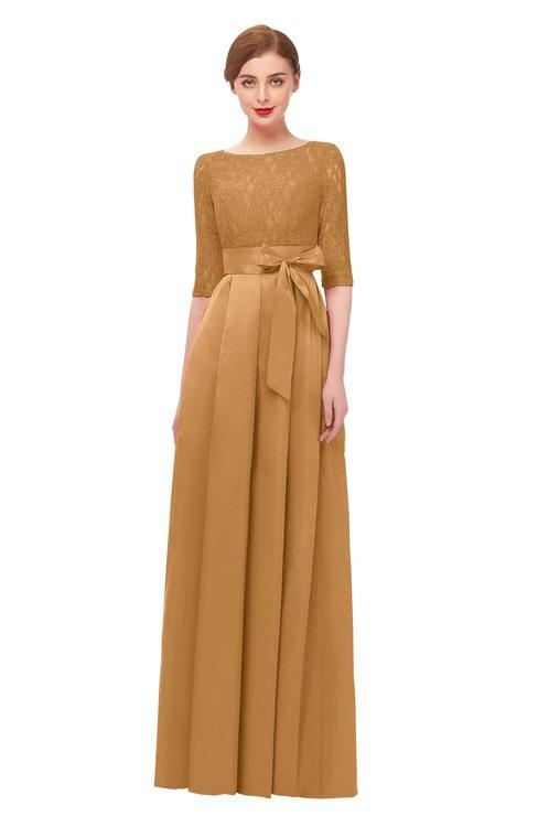 ColsBM Aisha Butterum Bridesmaid Dresses Sash A-line Floor Length Mature Sabrina Zipper
