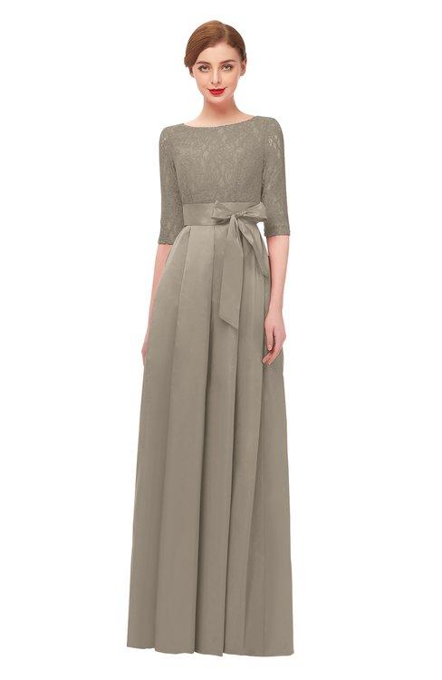 ColsBM Aisha Cobblestone Bridesmaid Dresses Sash A-line Floor Length Mature Sabrina Zipper