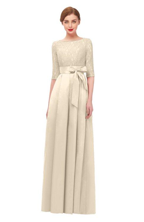 ColsBM Aisha Cornhusk Bridesmaid Dresses Sash A-line Floor Length Mature Sabrina Zipper
