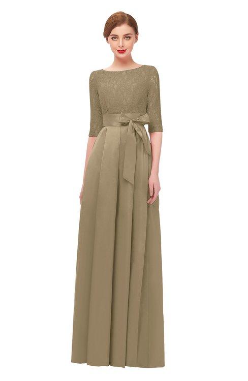ColsBM Aisha Cornstalk Bridesmaid Dresses Sash A-line Floor Length Mature Sabrina Zipper