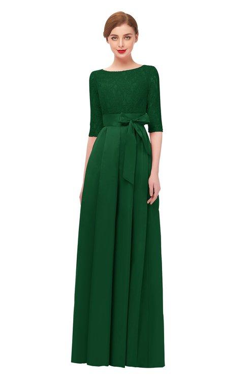 ColsBM Aisha Eden Bridesmaid Dresses Sash A-line Floor Length Mature Sabrina Zipper