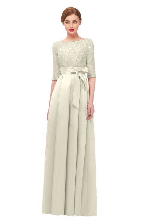 ColsBM Aisha Egret Bridesmaid Dresses Sash A-line Floor Length Mature Sabrina Zipper