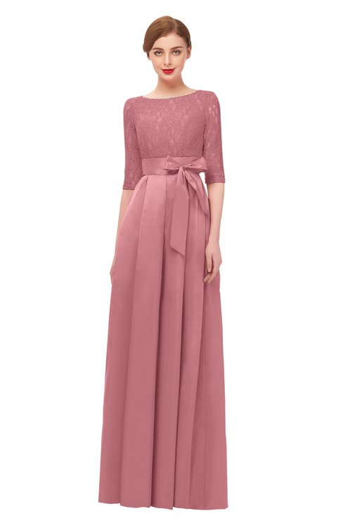 ColsBM Aisha Mauveglow Bridesmaid Dresses Sash A-line Floor Length Mature Sabrina Zipper