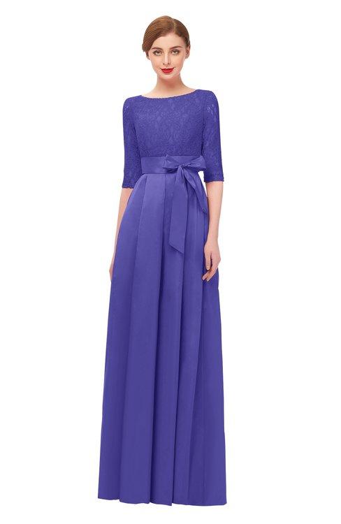 ColsBM Aisha Purple Opulence Bridesmaid Dresses Sash A-line Floor Length Mature Sabrina Zipper