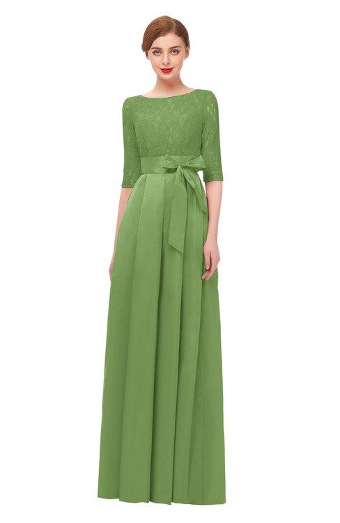 ColsBM Aisha Tendril Bridesmaid Dresses Sash A-line Floor Length Mature Sabrina Zipper