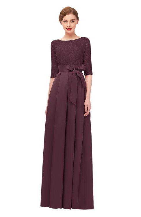 ColsBM Aisha Windsor Wine Bridesmaid Dresses Sash A-line Floor Length Mature Sabrina Zipper