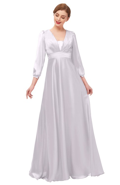 ColsBM Andie Orchid Tint Bridesmaid Dresses Ruching Modest Zipper Floor Length A-line V-neck