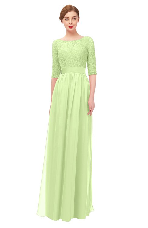 ColsBM Lola Butterfly Bridesmaid Dresses Zip up Boat A-line Half Length Sleeve Modest Lace