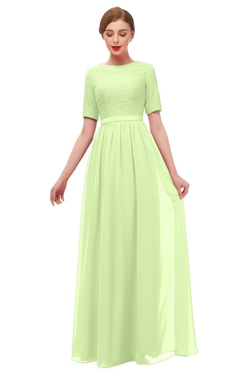 ColsBM Ansley Butterfly Bridesmaid Dresses Modest Lace Jewel A-line Elbow Length Sleeve Zip up