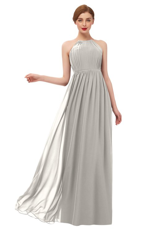 ColsBM Peyton Ashes Of Roses Bridesmaid Dresses Pleated Halter Sleeveless Half Backless A-line Glamorous