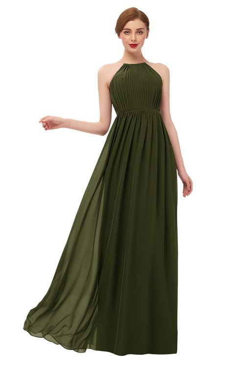 ColsBM Peyton Beech Bridesmaid Dresses Pleated Halter Sleeveless Half Backless A-line Glamorous