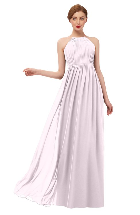 ColsBM Peyton Blush Bridesmaid Dresses Pleated Halter Sleeveless Half Backless A-line Glamorous