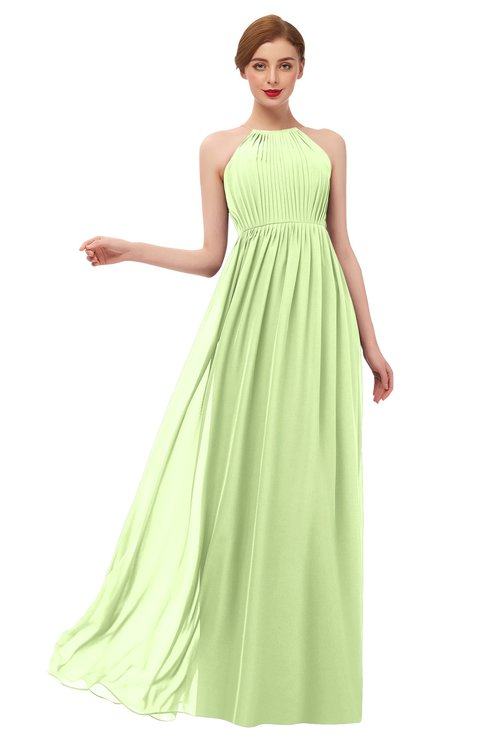 ColsBM Peyton Butterfly Bridesmaid Dresses Pleated Halter Sleeveless Half Backless A-line Glamorous