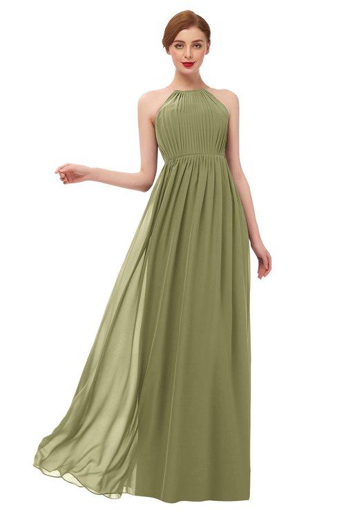 ColsBM Peyton Cedar Bridesmaid Dresses Pleated Halter Sleeveless Half Backless A-line Glamorous