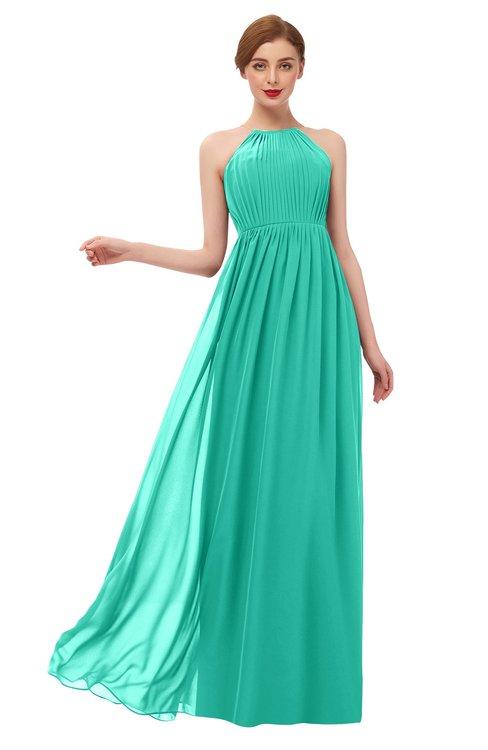ColsBM Peyton Ceramic Bridesmaid Dresses Pleated Halter Sleeveless Half Backless A-line Glamorous