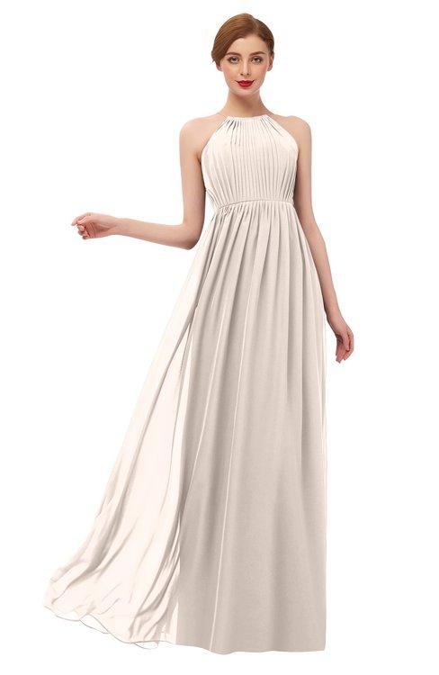 ColsBM Peyton Cream Pink Bridesmaid Dresses Pleated Halter Sleeveless Half Backless A-line Glamorous