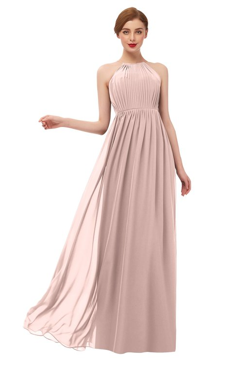 ColsBM Peyton Dusty Rose Bridesmaid Dresses Pleated Halter Sleeveless Half Backless A-line Glamorous