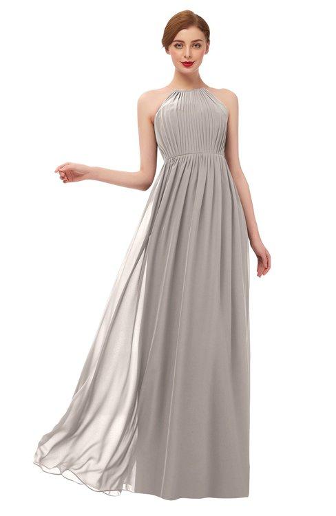 ColsBM Peyton Fawn Bridesmaid Dresses Pleated Halter Sleeveless Half Backless A-line Glamorous