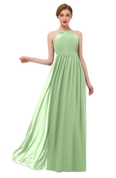 ColsBM Peyton Gleam Bridesmaid Dresses Pleated Halter Sleeveless Half Backless A-line Glamorous