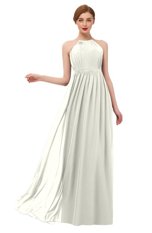 ColsBM Peyton Ivory Bridesmaid Dresses Pleated Halter Sleeveless Half Backless A-line Glamorous