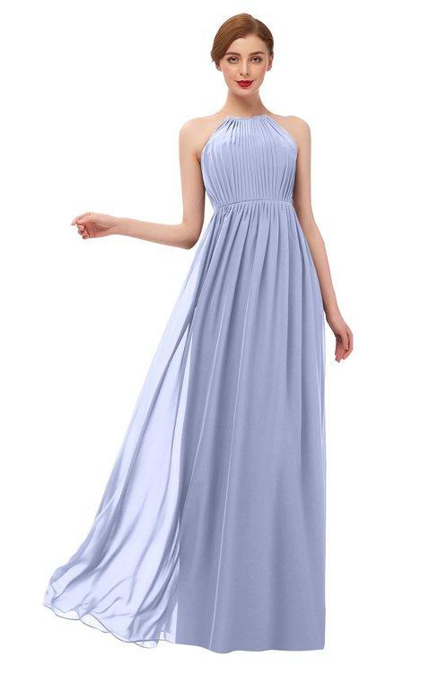 ColsBM Peyton Lavender Bridesmaid Dresses Pleated Halter Sleeveless Half Backless A-line Glamorous