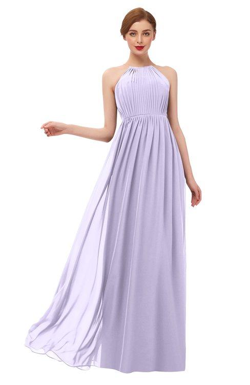 ColsBM Peyton Light Purple Bridesmaid Dresses Pleated Halter Sleeveless Half Backless A-line Glamorous