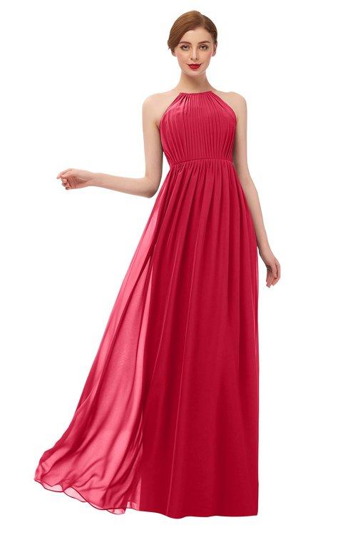 ColsBM Peyton Lollipop Bridesmaid Dresses Pleated Halter Sleeveless Half Backless A-line Glamorous
