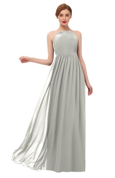 ColsBM Peyton Platinum Bridesmaid Dresses Pleated Halter Sleeveless Half Backless A-line Glamorous