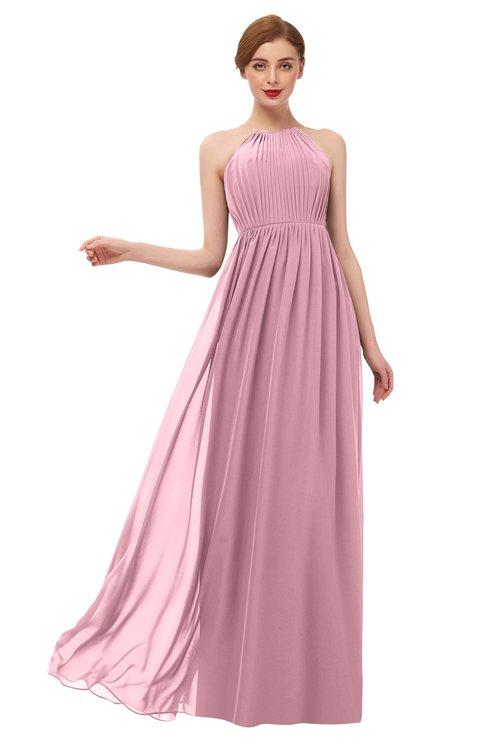 ColsBM Peyton Rosebloom Bridesmaid Dresses Pleated Halter Sleeveless Half Backless A-line Glamorous