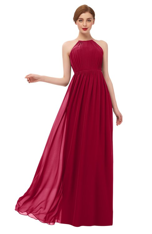 ColsBM Peyton Scooter Bridesmaid Dresses Pleated Halter Sleeveless Half Backless A-line Glamorous