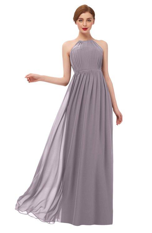 ColsBM Peyton Sea Fog Bridesmaid Dresses Pleated Halter Sleeveless Half Backless A-line Glamorous