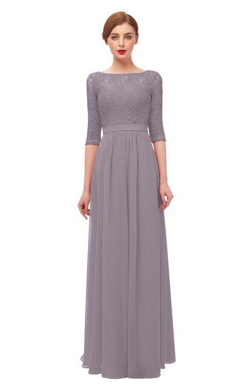 ColsBM Neriah Cameo Bridesmaid Dresses Lace Antique Zipper Boat Floor Length Half Length Sleeve