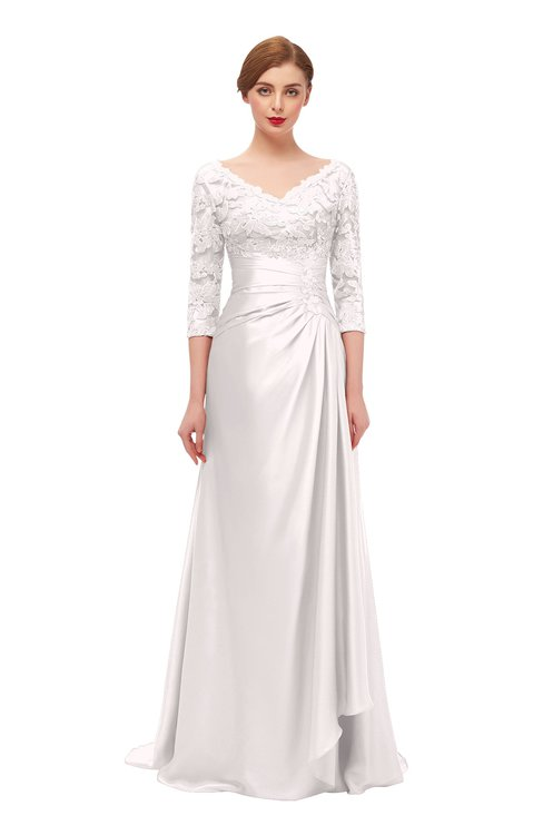 ColsBM Tatum Crystal Pink Bridesmaid Dresses Luxury Zipper Three-fourths Length Sleeve Brush Train Lace V-neck