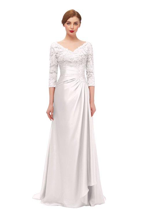 ColsBM Tatum Petal Pink Bridesmaid Dresses Luxury Zipper Three-fourths Length Sleeve Brush Train Lace V-neck