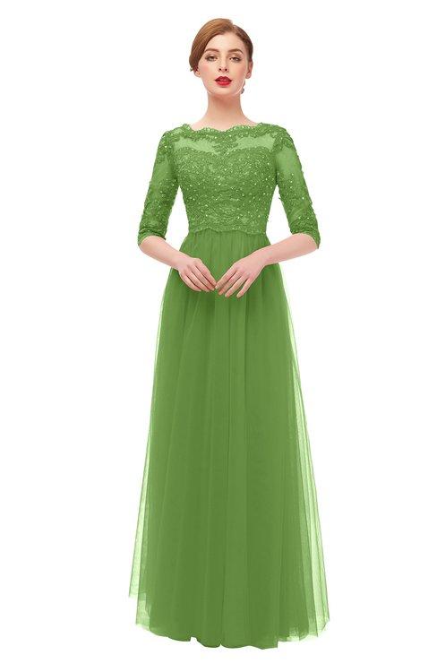 ColsBM Billie Clover Bridesmaid Dresses Scalloped Edge Ruching Zip up Half Length Sleeve Mature A-line