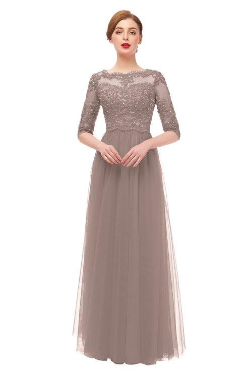 ColsBM Billie Fawn Bridesmaid Dresses Scalloped Edge Ruching Zip up Half Length Sleeve Mature A-line