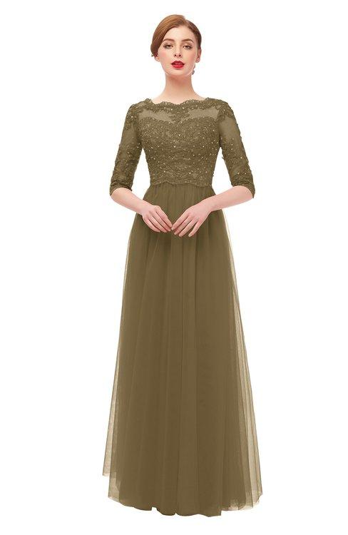 ColsBM Billie Otter Bridesmaid Dresses Scalloped Edge Ruching Zip up Half Length Sleeve Mature A-line