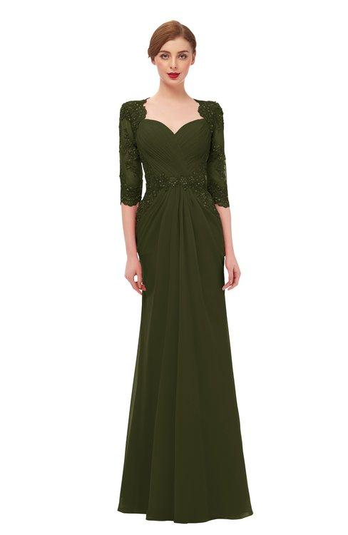 ColsBM Bronte Beech Bridesmaid Dresses Elbow Length Sleeve Pleated Mermaid Zipper Floor Length Glamorous