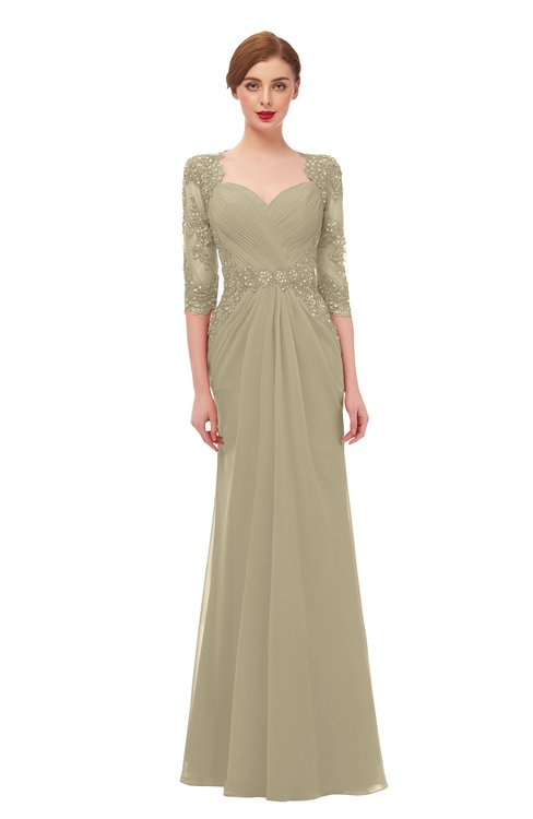 ColsBM Bronte Candied Ginger Bridesmaid Dresses Elbow Length Sleeve Pleated Mermaid Zipper Floor Length Glamorous