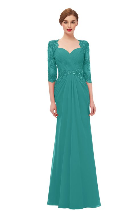 ColsBM Bronte Emerald Green Bridesmaid Dresses Elbow Length Sleeve Pleated Mermaid Zipper Floor Length Glamorous