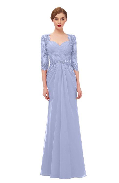 ColsBM Bronte Lavender Bridesmaid Dresses Elbow Length Sleeve Pleated Mermaid Zipper Floor Length Glamorous
