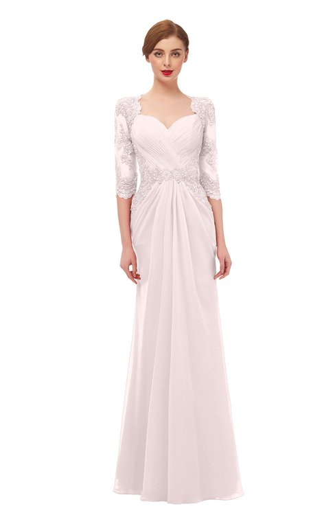 ColsBM Bronte Light Pink Bridesmaid Dresses Elbow Length Sleeve Pleated Mermaid Zipper Floor Length Glamorous