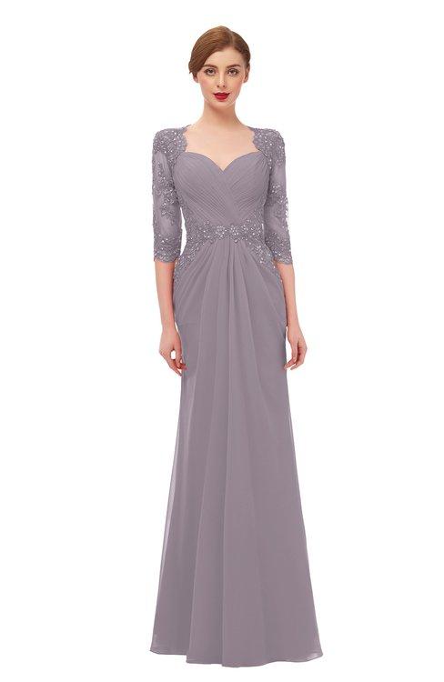 ColsBM Bronte Sea Fog Bridesmaid Dresses Elbow Length Sleeve Pleated Mermaid Zipper Floor Length Glamorous