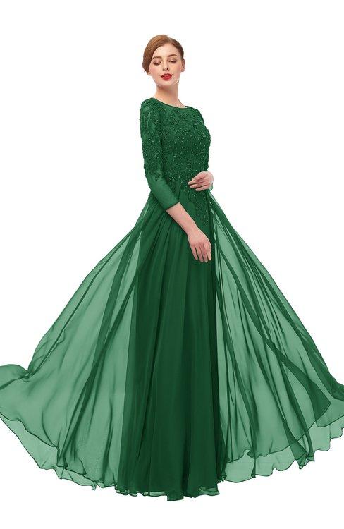 ColsBM Dixie Eden Bridesmaid Dresses Lace Zip up Mature Floor Length Bateau Three-fourths Length Sleeve