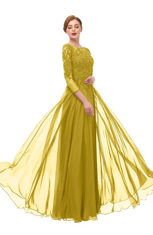 ColsBM Dixie Sauterne Bridesmaid Dresses Lace Zip up Mature Floor Length Bateau Three-fourths Length Sleeve