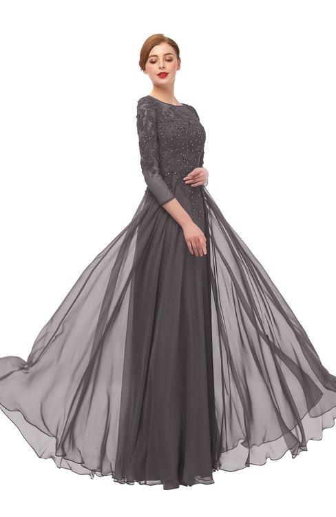 ColsBM Dixie Sparrow Bridesmaid Dresses Lace Zip up Mature Floor Length Bateau Three-fourths Length Sleeve