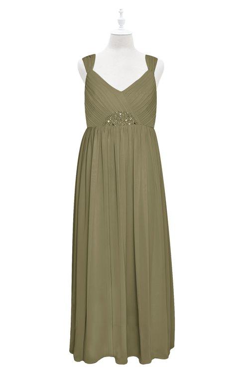 ColsBM Saniyah Boa Plus Size Bridesmaid Dresses V-neck Floor Length Romantic Sleeveless Paillette Backless